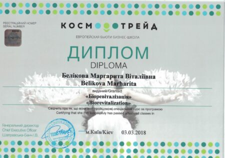Беликова Маргарита Витальевна